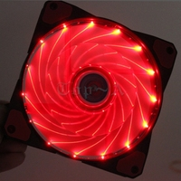 1piece 120mm X 25mm 12V 3pin Turn 4Pin LED Red Light With Fifteen Lights Cooler For