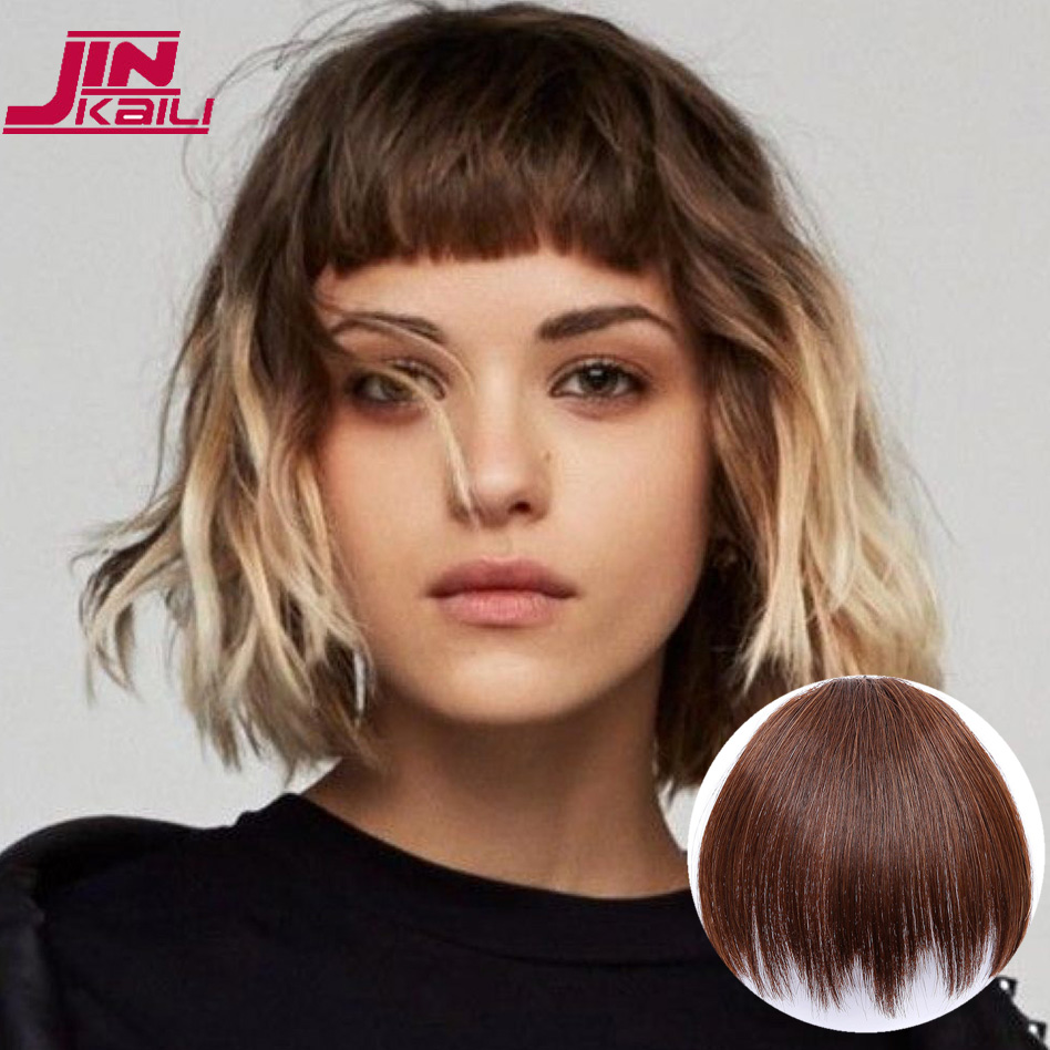 JINKAILI פאת משחק תפקידים סינטטי שיער קצר פוני 1 קליפים קליפ שיער הארכת ססגוניות פוני Hairpieces