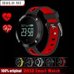 Hold Mi DM58 Bluetooth Sports Wristband Heart Rate Smart Watch Blood Pressure Monitor Waterproof Heart Rate PK Xiaomi AMAZFIT