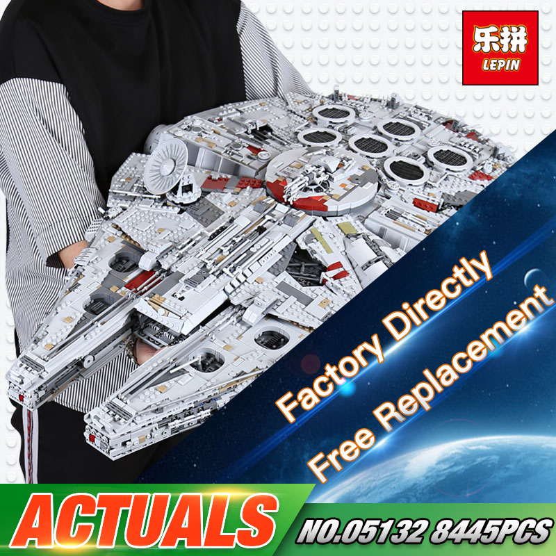 In Stock Lepin 05132 Star Plan Series 8445PCS The Ultimate Collector s Destroyer Set 75192 Building