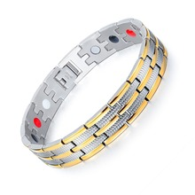 Stainless Steel Healthy Magnet Bracelet Men Jewelry Energy Magnetic therapy Father's day Gift все цены