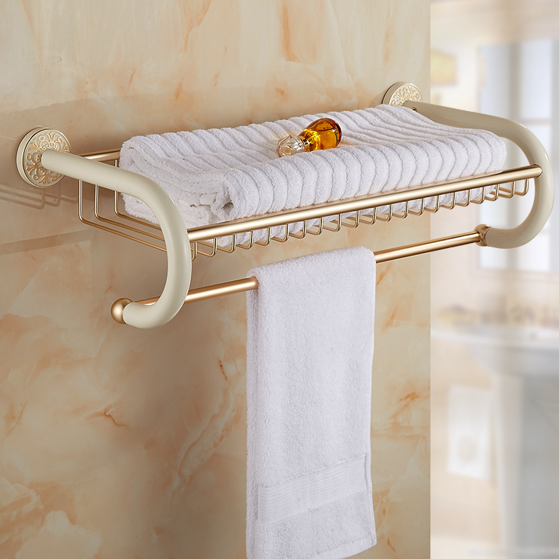Aliexpress.com : Buy 60cm hotel bath towel holder aluminum vintage ...