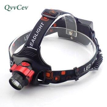 Sensor de gesto iluminación al aire libre lampe frontal faro 18650 o AA batería cabeza linterna frente cabeza luz antorcha
