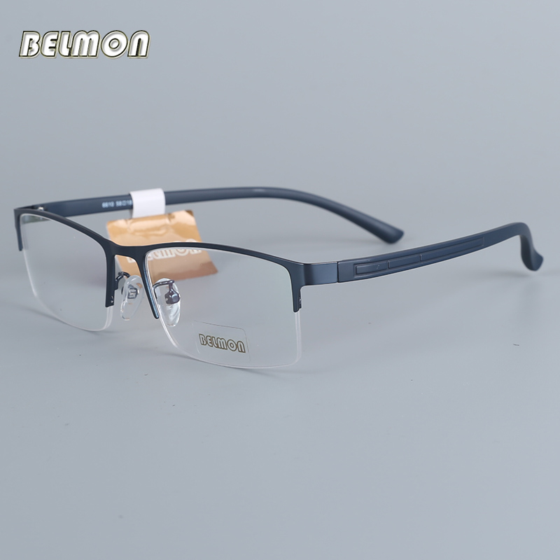 Belmon Spectacle Frame Eyeglasses Men Nerd Computer Optical Prescription Eye Glasses Frame For Male Transparent Clear Lens 6610