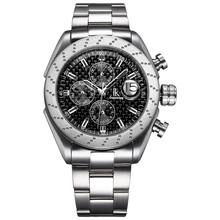 新しい自動機械メンズ自動巻き腕時計ファッションレジャーシンプルなステンレススチール時計バンド防水メンズスポーツ腕時計