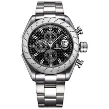 Nuevo reloj automático de hombre con cuerda automática, moda de ocio, correa de reloj Simple de acero inoxidable, reloj deportivo impermeable para hombre