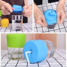 Герметичная детская Крышка для чашки, растягивающиеся силиконовые крышки, непроливающаяся детская тренировочная стеклянная крышка для чашки, детская соломенная крышка