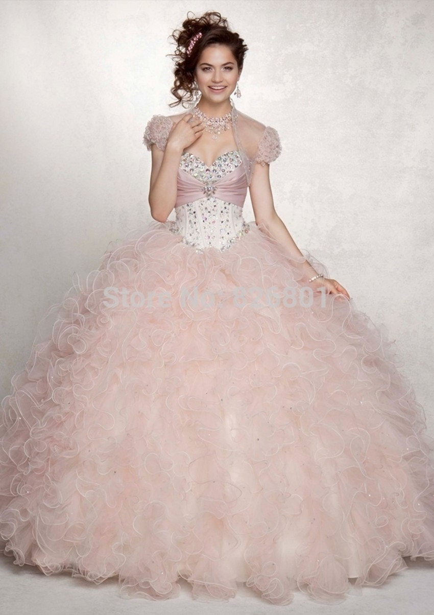 Baby Pink Sweet 16 Dresses