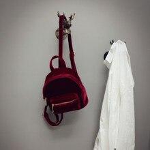 Осень и Новинка зимы korena Стиль мини-рюкзак простой джокер отдыха велюр рюкзак Shox элегантный дизайн студент школьная сумка
