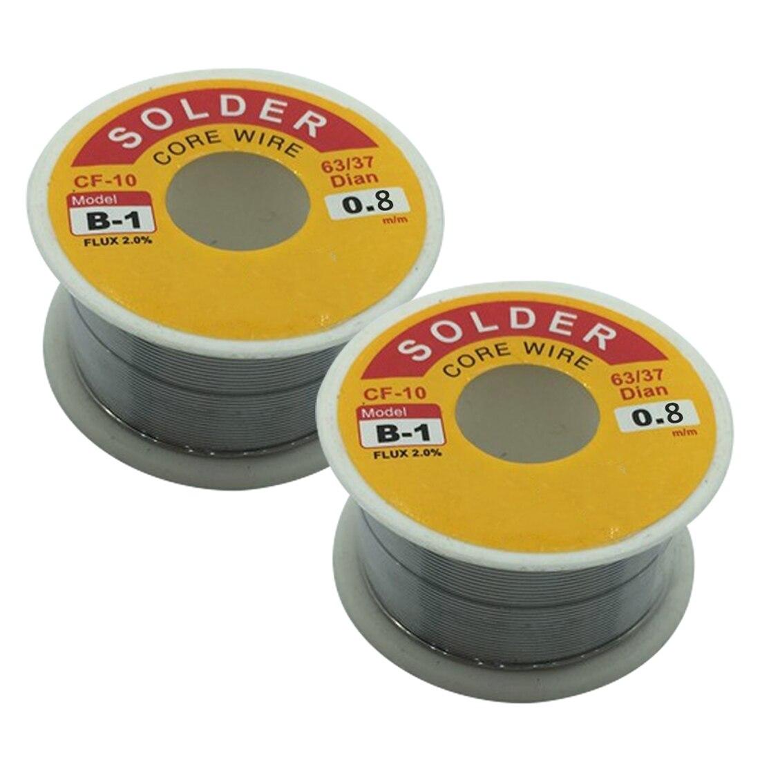 Hot!0.8mm 50g Rosin Core Solder 63/37 Tin Lead Flux Soldering For Welder Iron Wire Reel Soldering Iron Wires Welding