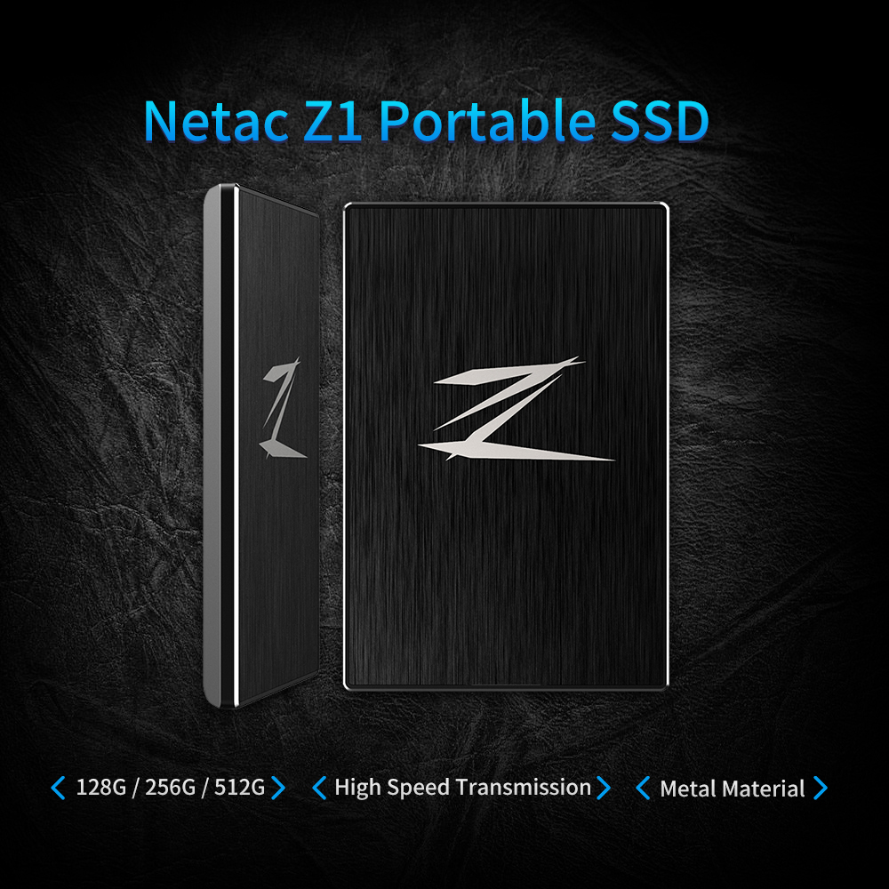Netac Z1 128GB 256GB 512GB SSD External Solid State Drive SuperSpeed USB 3.0 Cache 256MB for business laptop pc desktop macbook цена