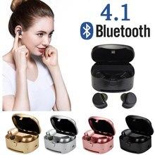 Original Mini Wireless Earphones Bluetooth 4.1 Earphone Duble Stereo Earbuds with MIC Charging Box for IPhone Xiaomi Phone