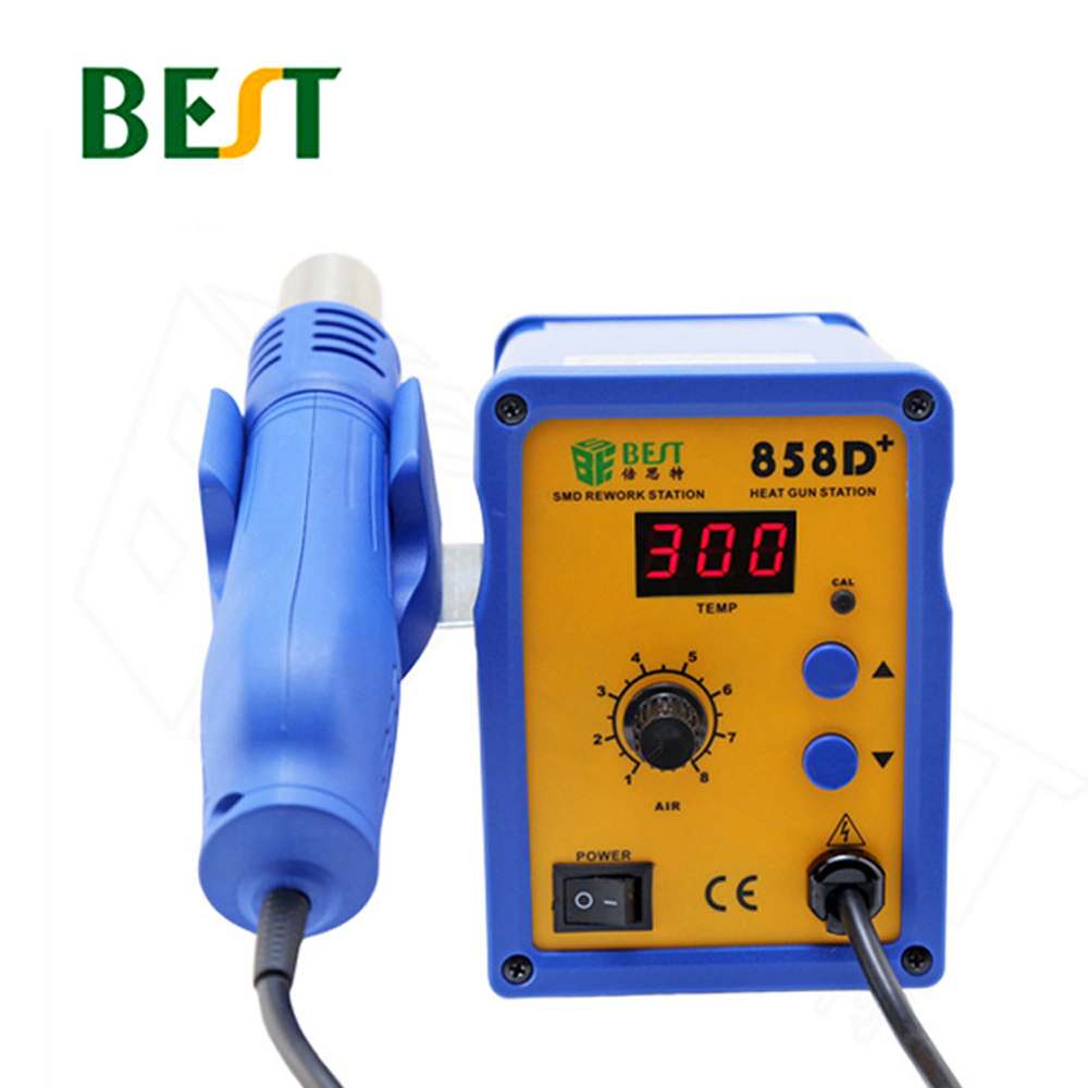 BST-858D+ Hot Air Soldering Station Single Digital Display Adjustable Hot Air Blower Mobile Phone Repair Desoldering StationBST-858D+ Hot Air Soldering Station Single Digital Display Adjustable Hot Air Blower Mobile Phone Repair Desoldering Station