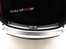 1* Stainless Steel Rear Trunk Sill Inner + Outer Scuff Bumper Protector Plate Cover Trim For Mazda CX-5 CX5 2nd Gen. 2017 2018