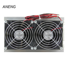 1PC Thermoelectric Peltier Refrigeration Cooling System Kit Cooler Double Fan New