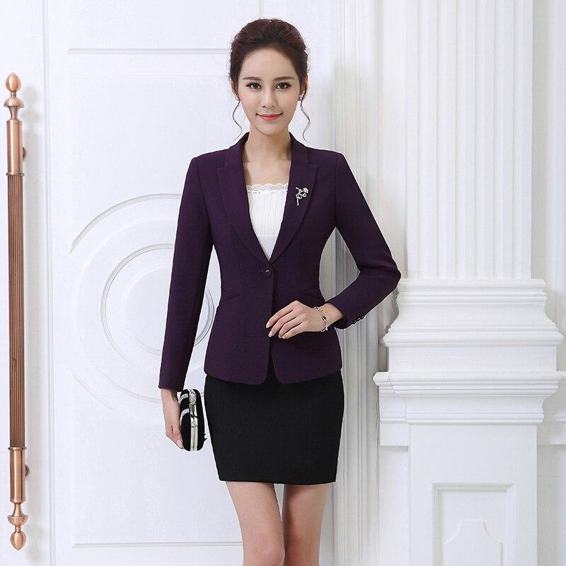 Formal Ladies Office Uniform Designs Woman Skirt and Jackets Business Suits Elegant Work Skirts Blazer 2 Piece Sets