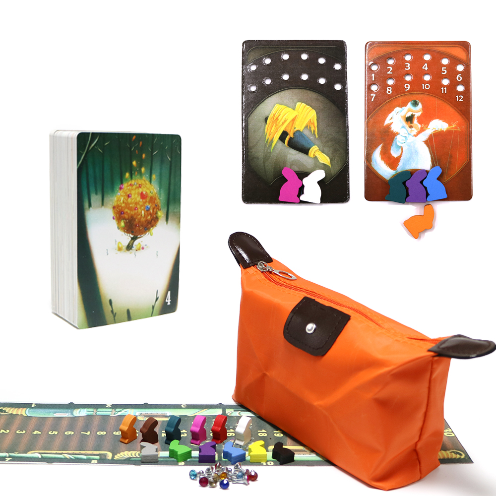 2018 High Quality Obscure Dixit Deck 4 Cards Game Wooden Bunny Russian And English Rules Board Game For Family Party