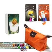 Jogo de tabuleiro obscura dixit, jogo de 4 cartas, coelho de madeira, regras em inglês e russo, jogo de tabuleiro para festa da família, alta qualidade, 2020