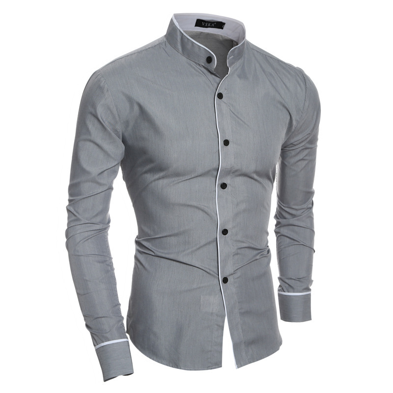 Fashion New Long Sleeve Shirts Men Slim Design Cotton Casual Male Dress Shirts Summer-Autumn Shirts For man 3 colour
