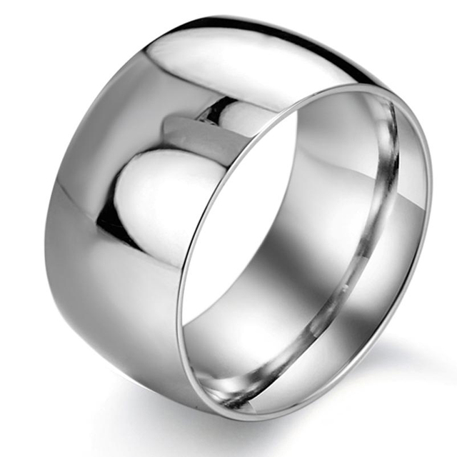 Stainless Steel Ring Thickness Luxury Brand Fashion Mens Big Wedding Rings Engagement Smooth Surface