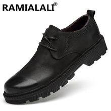 Мужские зимние ботинки из натуральной кожи высокого качества теплые плюшевые зимние ботинки на шнуровке Модные мужские ботильоны, большие размеры 38 46