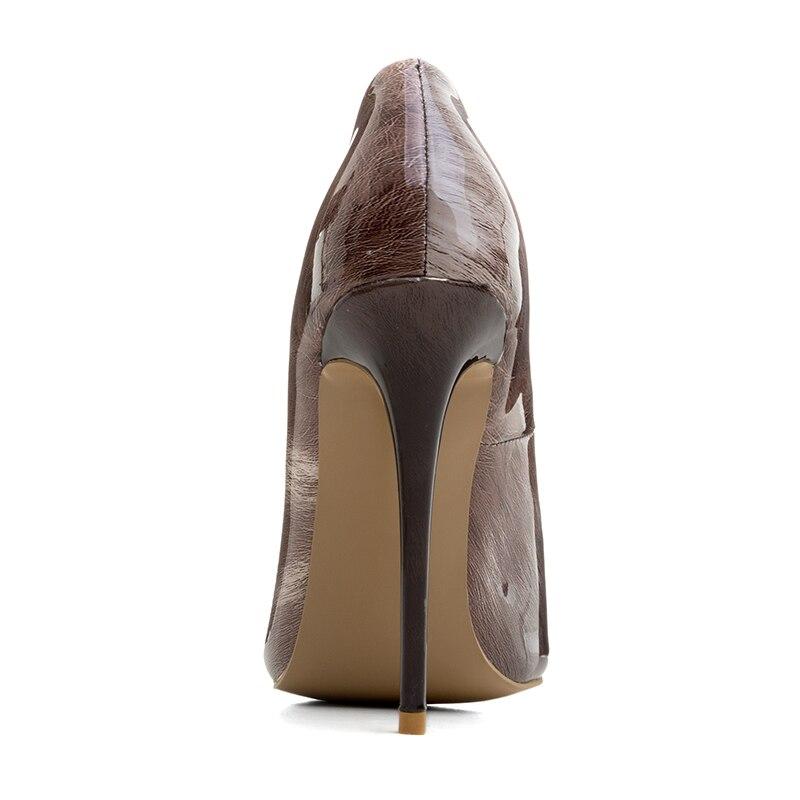 Pompe brown Scarpe Eleganti Thin 12 Slip Partito Delle Ufficio Signore Di  Tacchi Black Cm Brevetto ... 980cd5ce92e