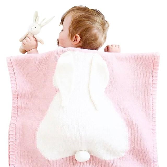 5 Farben Babydecken Kaninchen Häkeln Neugeborene Decke Kinder