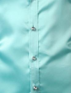 Image 4 - Pink Silk Satin Shirt Men 2017 Fashion Long Sleeve Mens Slim Tuxedo Shirts Casual Shiny Emulation Silk Button Down Dress Shirts