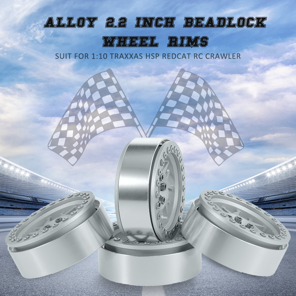 RC Car 4pcs Deadlock Wheel Rims Hub for 1:10 Traxxas HSP Redcat Tamiya Axial D90 HPI RC Rock Crawler Car Alloy 2.2 Inch 4pcs aluminum alloy 52 26mm tire hub wheel rim for 1 10 rc on road run flat car hsp hpi traxxas tamiya kyosho 1 10 spare parts page 7