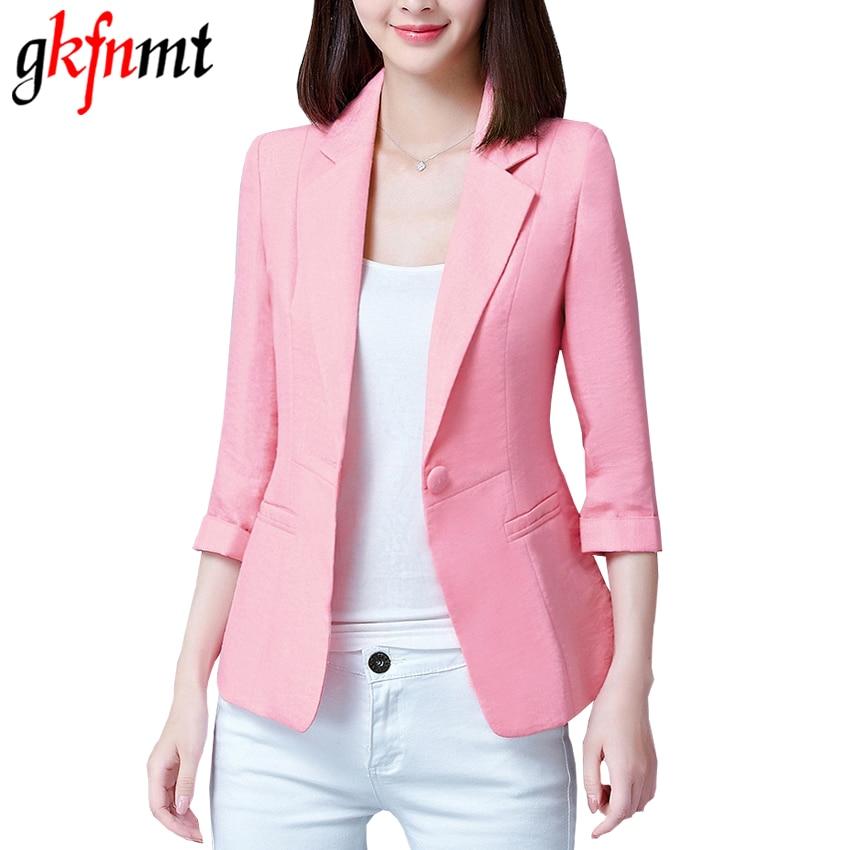 2017 New Plus Size Blazers Feminino 4XL 5XL Womens Business Suits Autumn All-match Woman Jackets Short Slim Blazer Suit Blue