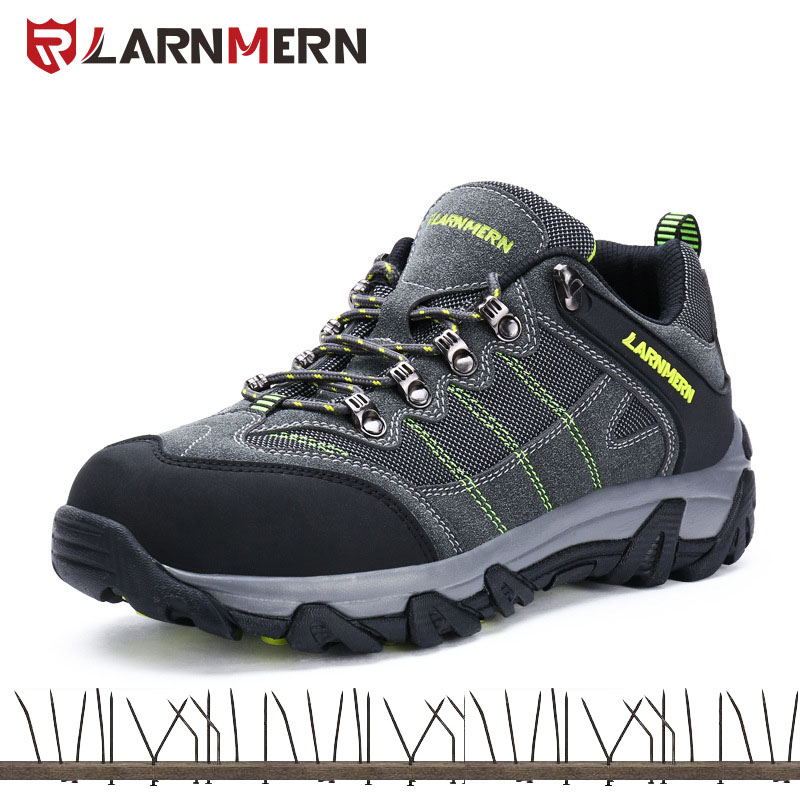 LARNMERN Breathable Men Safety Shoes Steel Toe Caps Work Shoes For Men Anti-smashing Construction Sneaker 39