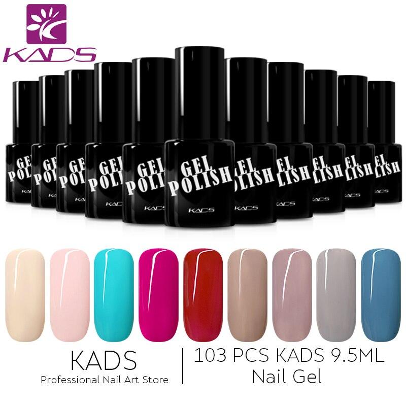 KADS 103 pcs 9.5 ml UV Gel Nail Set Polonais Nail Art durable Soak Off Gel Polish Manucure coloré Gel Semi Permanent Vernis