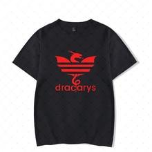 Print T-shirt American Drama Power Game Dracarys Dragon Flame Men's Unisex Short-sleeved Shirt Summer Hot Street Clothes