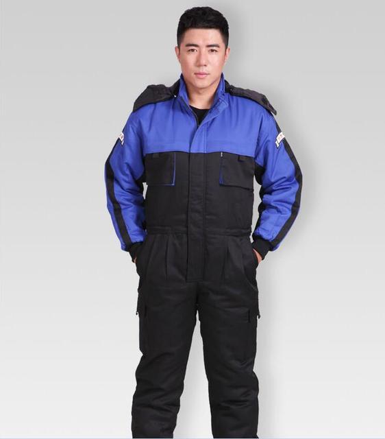 2016 hot inverno quente engrossar clothing segurança coverall macacão à prova de vento jaqueta quente fábrica/4S carro loja trabalhador roupas de trabalho