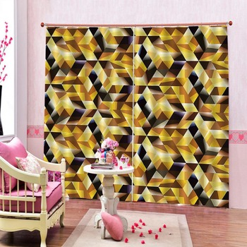 Customize diamond Blackout 3D Window Curtains For Living Room Sound proof Curtain For Bedroom Home Decoration Window Curtain