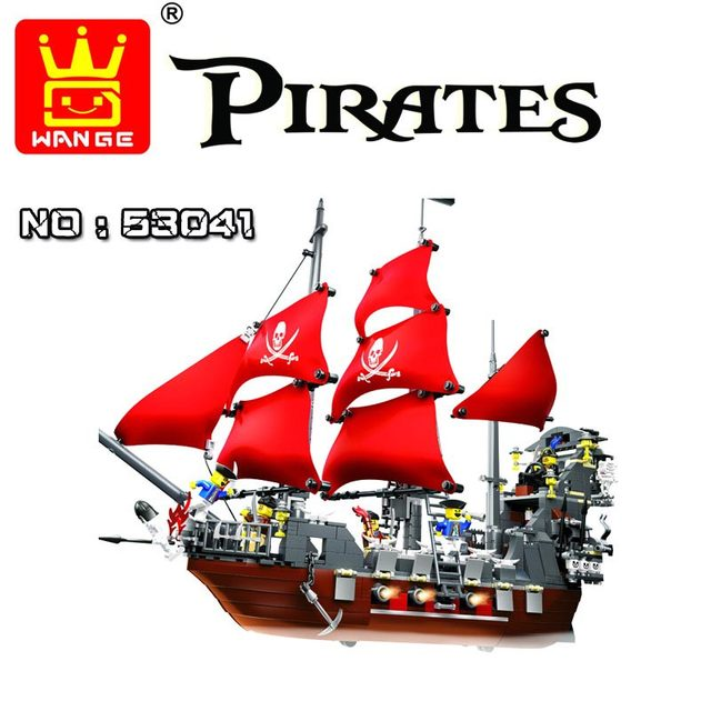 Wange Brand 1123pcs Large Pirates Building Blocks Pirates Of The Caribbean Queen Anne's Revenge Model Compatible With Lepin