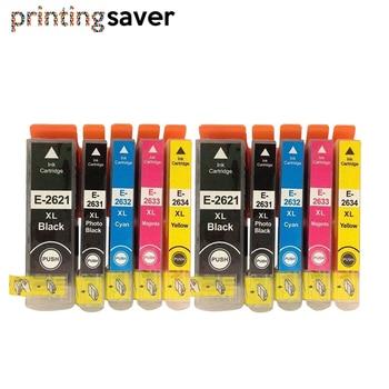 10Pcs T2621 T2632 T2633 T2634 26XL Ink cartridge for XP510 XP625 XP610 XP605 XP600 XP700 XP615 XP520 XP800 XP620 XP710 Printer full color fa09050 print head printer head for epson xp600 xp601 xp700 xp800 xp750 xp850 xp801