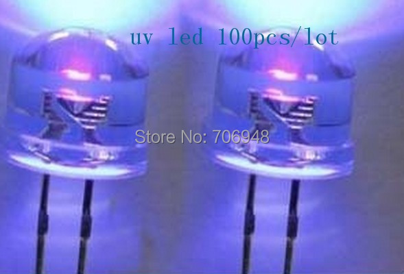 Nail Printer straw hat 8mm uv/purple led diode