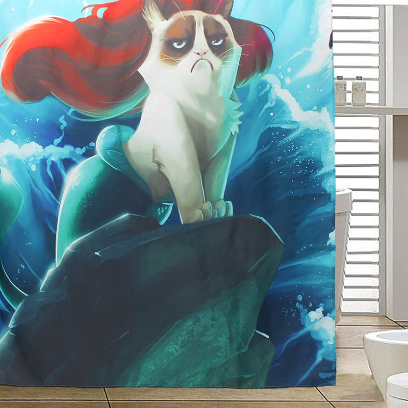 Custom Grumpy Cat Of Little Mermaid