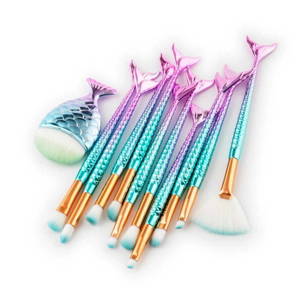 Makeup Brushes pincel de maquiagem Cosmetics Foundation Powder Eyeshadow Eyelashes Contour Fishtail Make Up Brush Tools