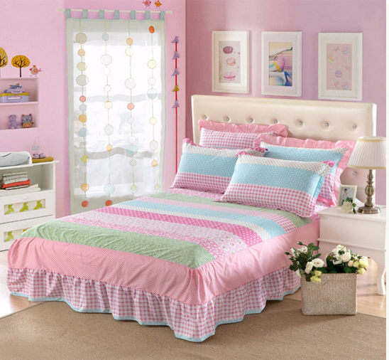 Cotton Single Double Bed Twin Full Queen Size Bed Skirt