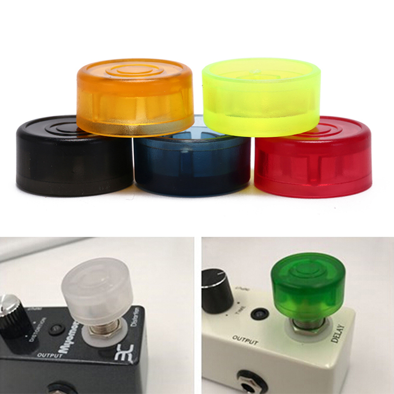 5pcs Guitar Effect Pedal Foot Nail Cap Foot Switch Toppers Knob Accessories Plastic Bumpers Footswitch Protector Candy Color