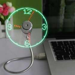Новое поступление светодиодный USB Часы Вентилятор крутой цветной дисплей вентилятор Регулируемый USB гаджет для Дополнительный внешний