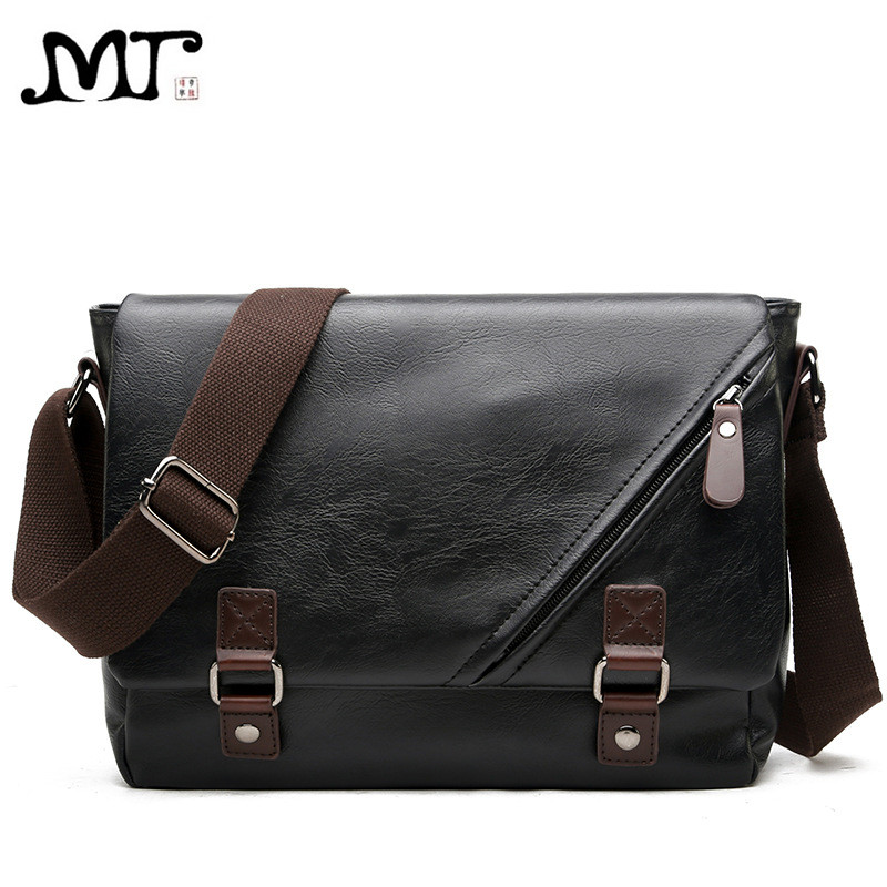 MJ Men's Bags Vintage PU Leather Male Messenger Bag High Quality Leather Crossbody Flap Bag Versatile Shoulder Handbag for Men