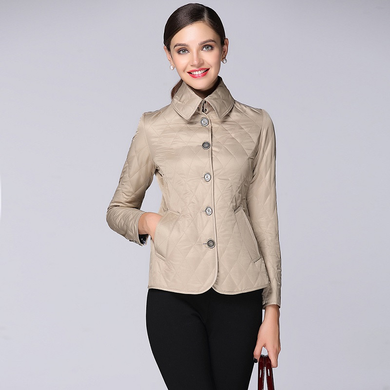 OLGITUM Winter Jacket Women Cotton Short 2018 New Girls Padded Slim Warm   Parkas   Stand Collar Coat Female Autumn Outerwear JK482