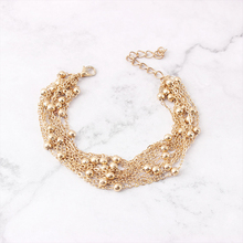 Simple Gold Metal Bracelets Party Trendy Small Ball Chain Bracelets Gift New Fashion Accessories Small bead bracelet Jewelry цена 2017