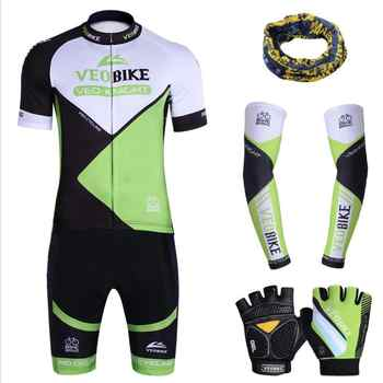 summer Breathable silicone cushion Night reflection MTB Cycling Jersey Set Pro Team Bike Clothing Men Women Bicycle Clothes 346