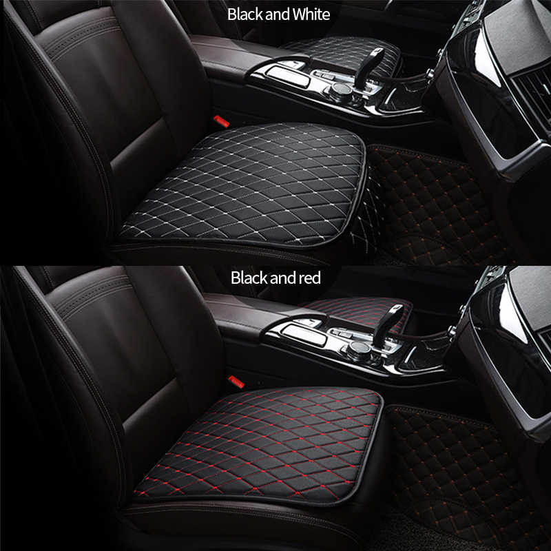 Pu レザーカーシートカバーユニバーサルシートクッションフロントリア後部座席シートカバーオートチェアプロテクターマットインテリアアクセサリー