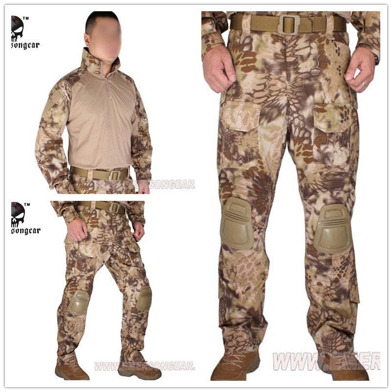 Emerson Tactical G3 Combat uniform Emerson shirt and pants Military US Army BDU Suits Kryptek Highlander  EM8594+7047 emersongear g3 combat shirt pants military bdu army airsoft tactical gear paintball hunting uniform bdu atacs au emerson