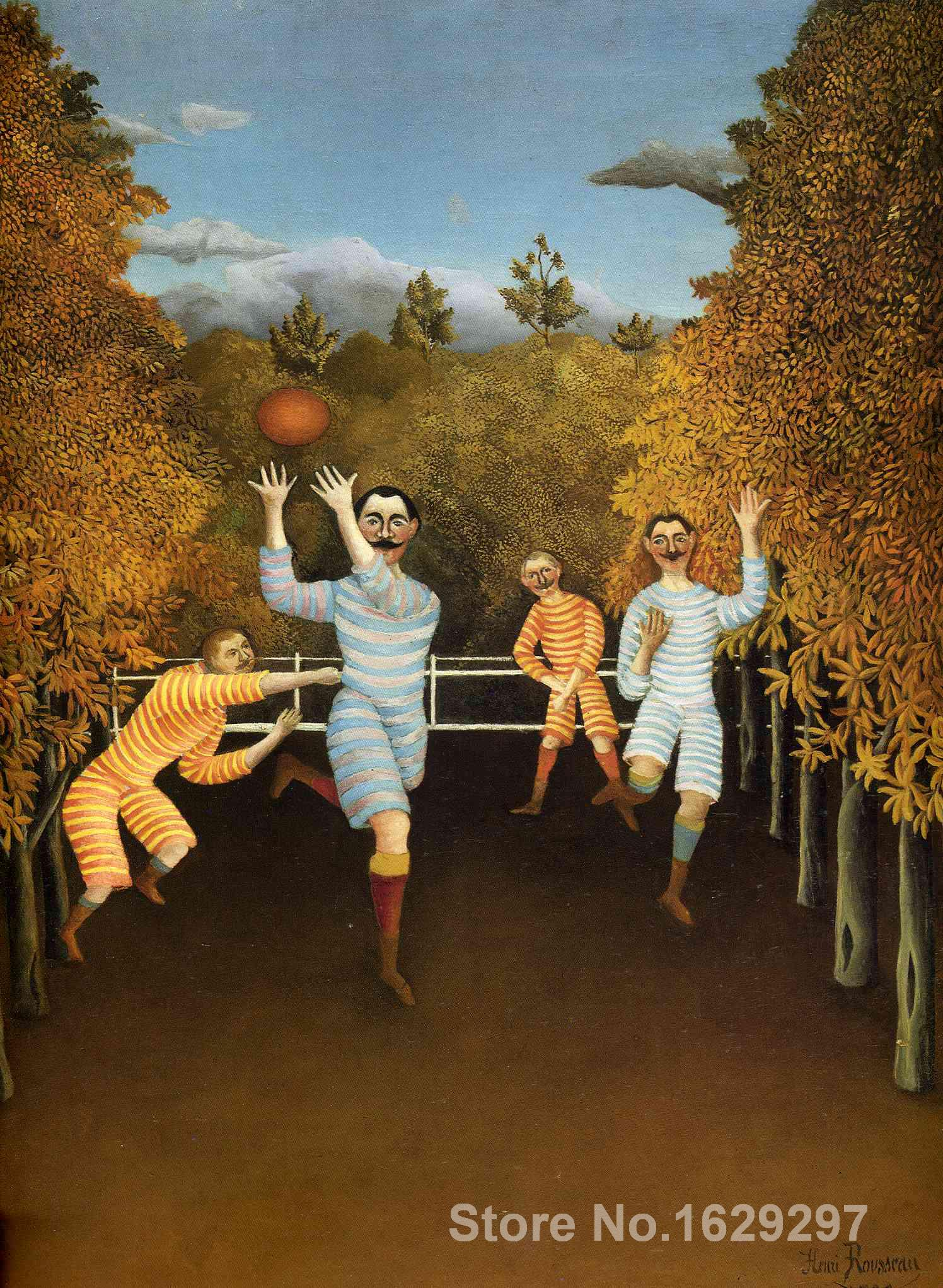 Paintings for living room wall The Football Players Henri Rousseau High quality Hand paintedPaintings for living room wall The Football Players Henri Rousseau High quality Hand painted